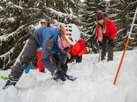 Avalanche rescue is a team work